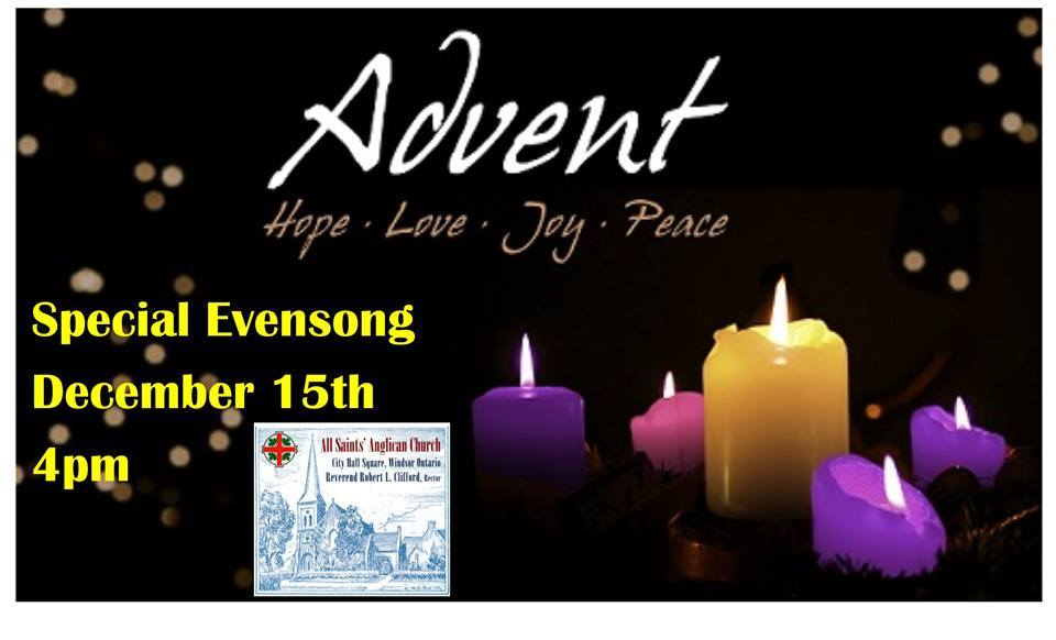 Poster for Advent Evensong