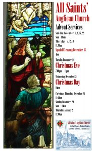 Listing of Christmas Services also in text of post