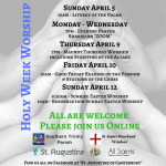 Poster for Easter services