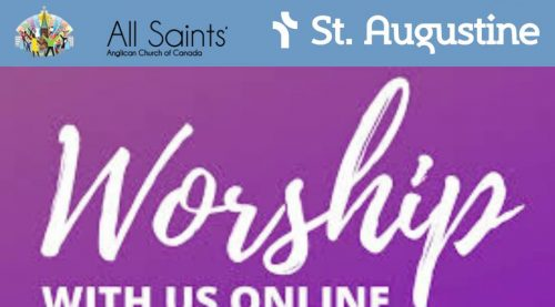 Graphic announcing July 19 online worship
