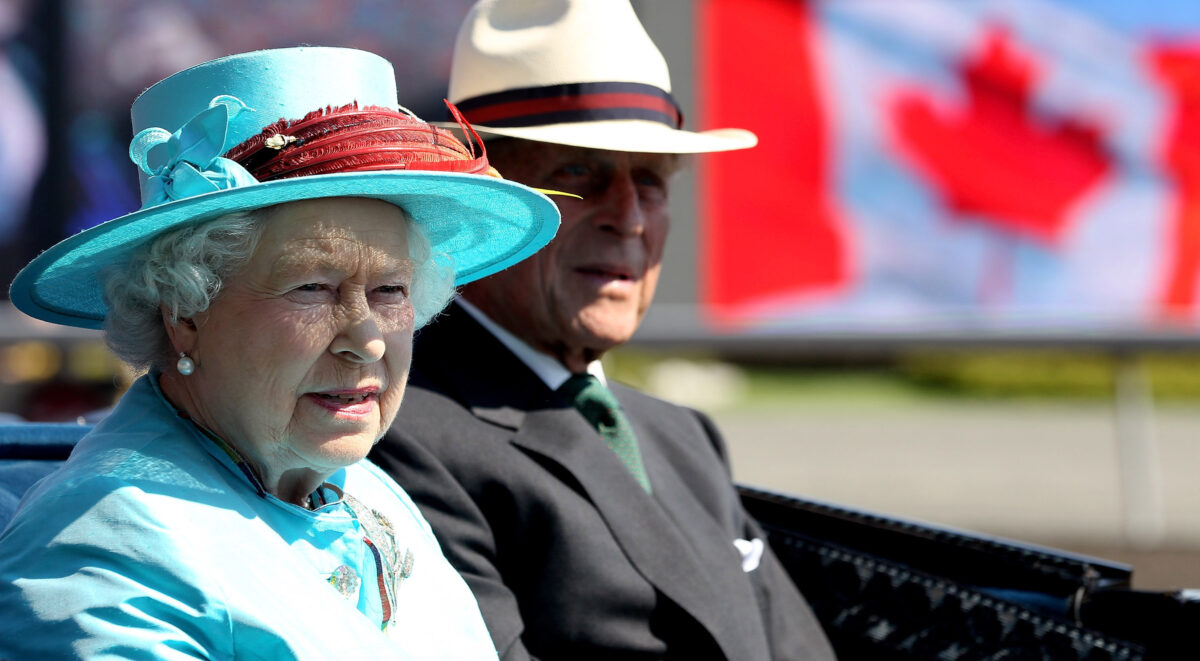 Photo of the Queen and Prince Phillp in Canada