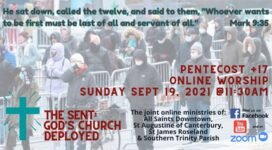 """Graphic for event: """"He sat down and called the twelve, and said to them,""""Whoever wants to be first must be last of all and servant to all."""" Mark 9:35"""